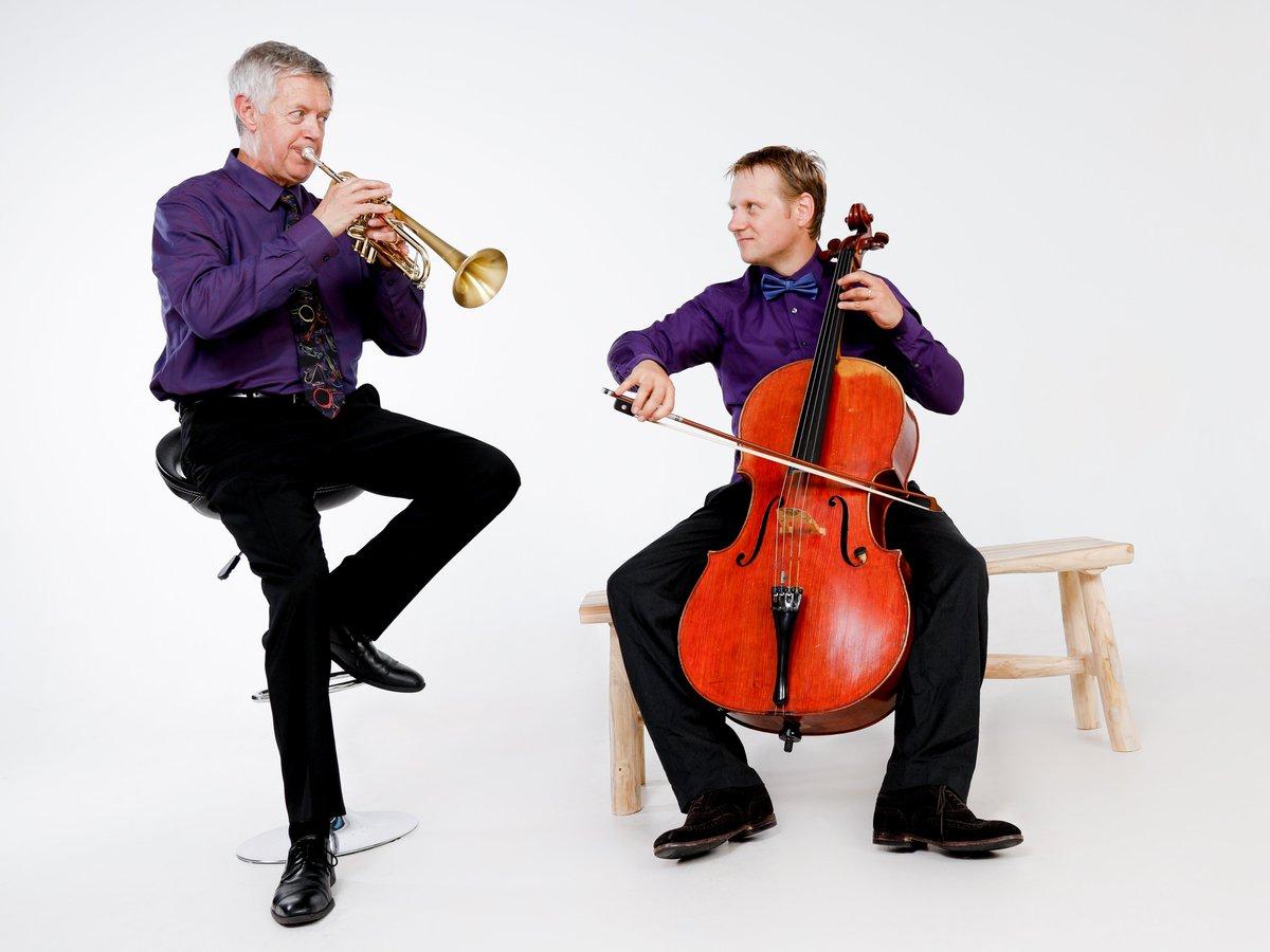 Trompet en cello in dialoog. Bezoek  voor onze opnames #cello #trompet #klassiekduo #modernklassiek #kamermuziek #huismuziek #TNCBProductions #Trompetnet.nl #Muziekfestival #Livemuziek