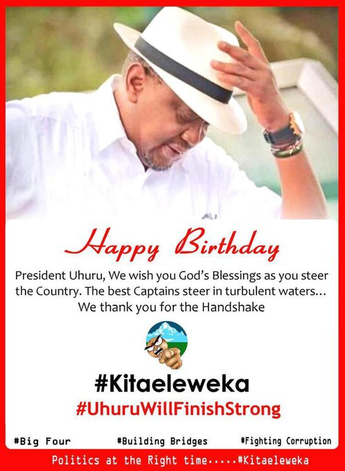 Happy birthday my dear President of this country Kenya UHURU KENYATTA