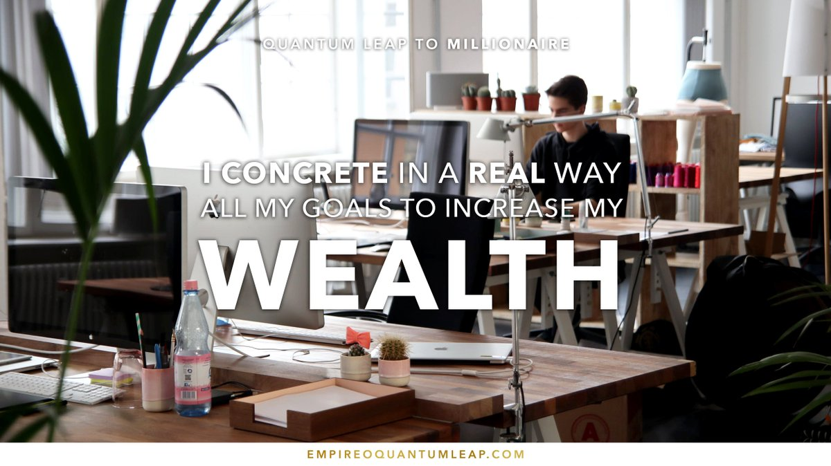 "I CONCRETE in a REAL way all my goals to increase my WEALTH. 👨🏻‍💻📊💵  ""QUANTUM LEAP TO MILLIONAIRE""💰💎 ▶️ I want to know more about the program https://t.co/zfXarp0sbB https://t.co/4xY23CHTOT"