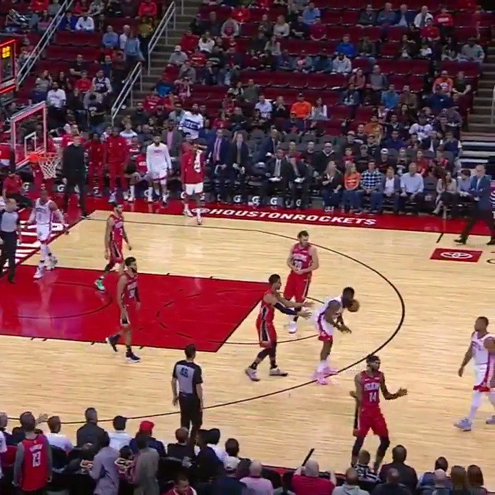 James Harden slams ball on the court, hits himself in the face