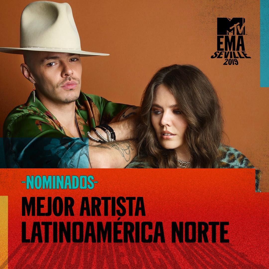 ¡Falta muy poco para los @mtvema! Aún pueden votar por nosotros como Mejor Artista Latinoamérica Norte aquí >> bit.ly/JesseYJoyEMA