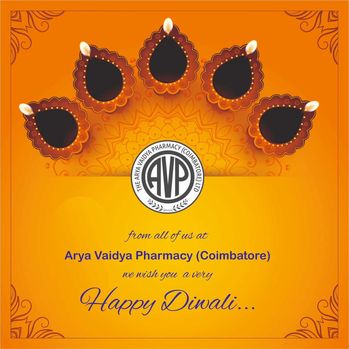Wishing you all a very Happy Diwali! #avpfestivities #avpforhealth #avpayurveda #HappyDiwali2019