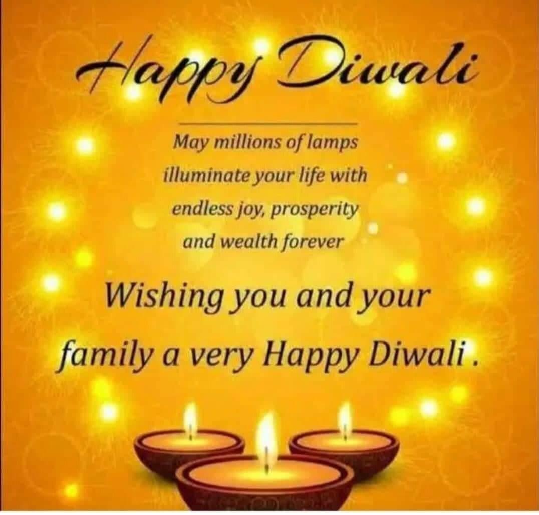 हमारे  पूरे  परिवार की तरफ  से  आपको सपरिवार  दिवाली  की हार्दिक शुभकामना , सादर प्रणाम 🙏आपका :- कुंज बिहारी सिंह