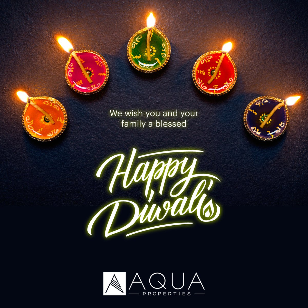 From all of us at AQUA Properties, on the occasion of Diwali, we wish you happiness, health, success and a prosperous New Year to everyone celebrating.  #AQUAProperties #RealEstate #DubaiRealEstate #Diwali #HappyDiwali #Diwali2019 #MyDubai #UAE https://t.co/Srk7gD8y7w