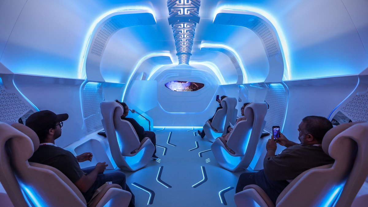 The inside of the Virgin @HyperloopOne at #GITEX2019Did you manage to grab a seat? 😉