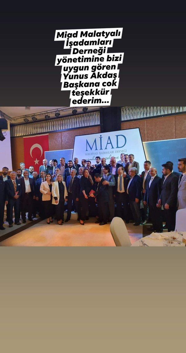 Miad Malatyalı İşadamlarıDerneği yönetimine bizleri uygun gören @yunusakdas teşekkür ederim.. https://t.co/Zj1ZCBSlTA