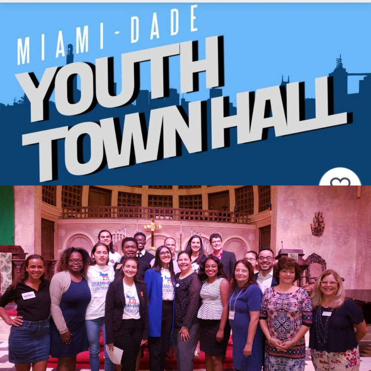 #TeamDotie is proud of the Miami-Dade Teens for putting on a spectacular Youth Town Hall, replete with voter registration and opportunities to sign up with various organization working on youth related issues. 👏🏾👏🏾👏🏾