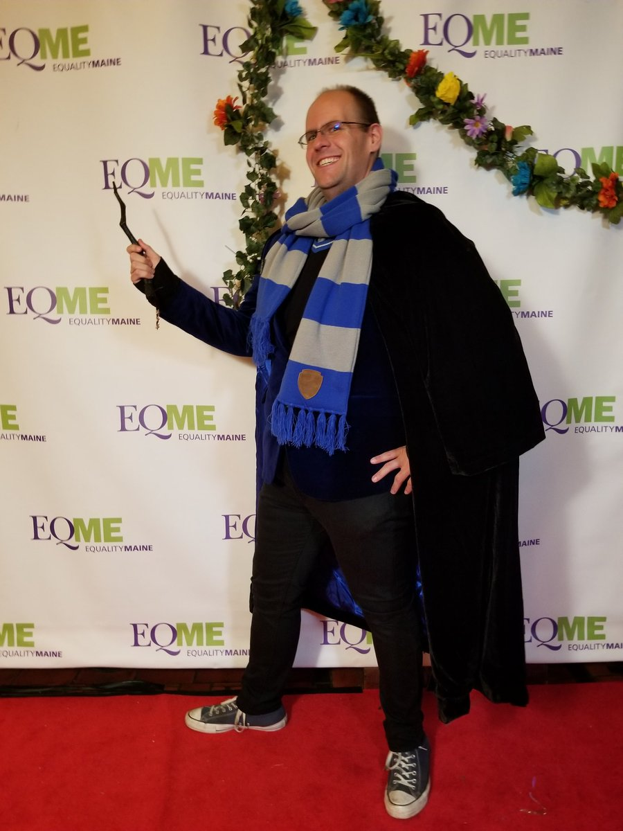 For the 2019 Equality Maine Pumpkin Ball, I decided to break out my Ravenclaw Literature Professor look.  #Halloween #Halloween2019 #EqualityME #PumpkinBall #Ravenclaw