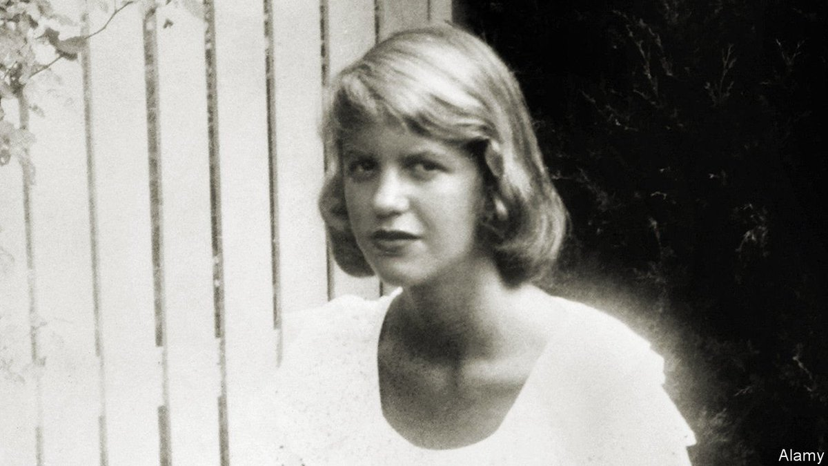 I know the bottom, she says. I know it with my great tap root:    It is what you fear. I do not fear it: I have been there.  Is it the sea you hear in me,    Its dissatisfactions? Or the voice of nothing, that was your madness?  Happy birthday to Sylvia Plath @HarperCollins