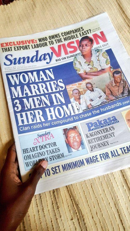Media massa mengupas tentang kehidupan Ann Grace Aguti yang punya 3 suami sekaligus.