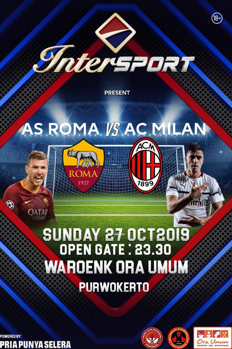 #REMINDER  Malam ini, Nobar big match AS Roma vs AC MILAN di Waroenk Ora Umum 🔥🔥🔥  #MilanoSiamoNoi