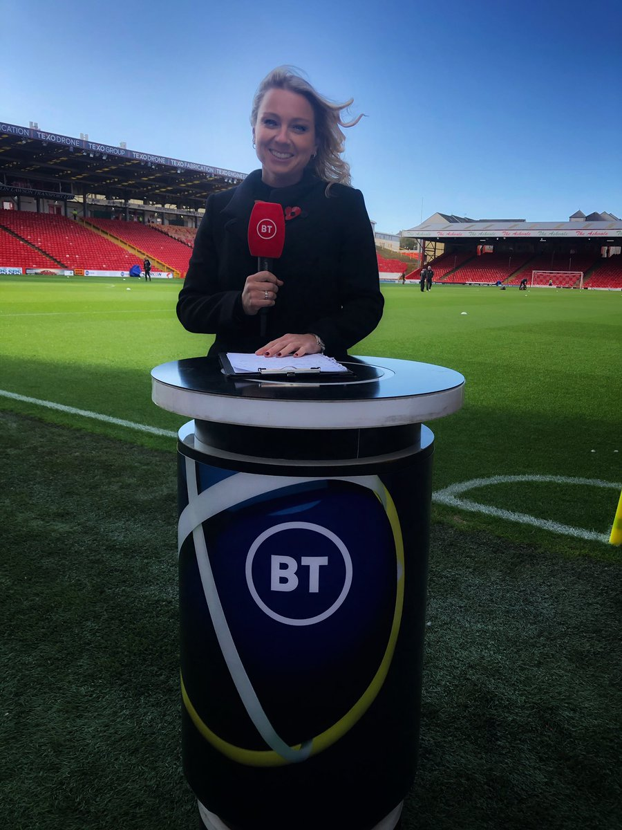 Particularly grateful all my hair is my own today! VERY blustery conditions at Pittodrie for today's Sunday lunchtime SPFL serving      We're live on BT Sport 1 with Aberdeen v Celtic.  Kick off 1215    #AberdeenFC #CelticFC #winteriscoming #sendheat #btsport<br>http://pic.twitter.com/7dYUIANTXT – à Pittodrie Stadium