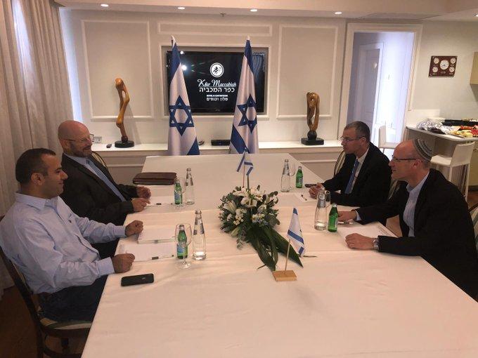 Azul e Branco e Likud terminam a primeira reunião