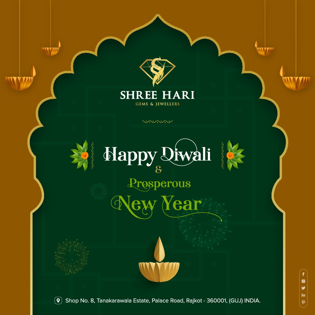 Happy Diwali & New Year, . . . #HappyDiwali #Diwali #NewYear #Celebrate #ShreeHari #ShreeHariJewellers #Jewellers #Collection #Gold #Silver #JewelryArt #GoldJewellery #Jewellery #Fashion #Gold #Bracelet #Jewels #Style #Accessories #Love #Ring #Wedding #FashionJewelry #Necklace