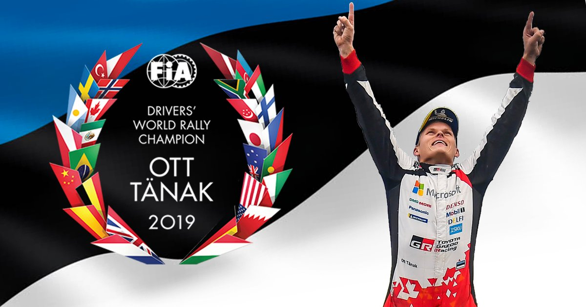 What a journey it has been.. BUT WE DIT IT!  WE ARE THE WORLD CHAMPIONS! 🏆🎉🥇☝️   #WRC #Champions #OttTänak #MartinJärveoja #GoOtt #TanakFanArmy   *Subject to the official publication of the results by the FIA. https://t.co/5NmdfdHGWD