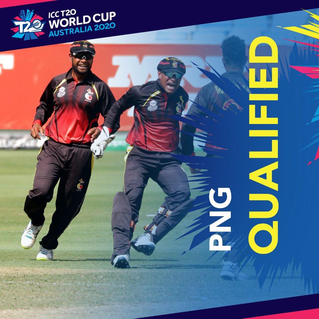 पापुआ न्यू गिनी ने टी 20 वर्ल्ड कप के लिए क्वालीफाई किया, वर्ल्ड कप के लिए 8 टीमें तय 4 के नाम बाकी