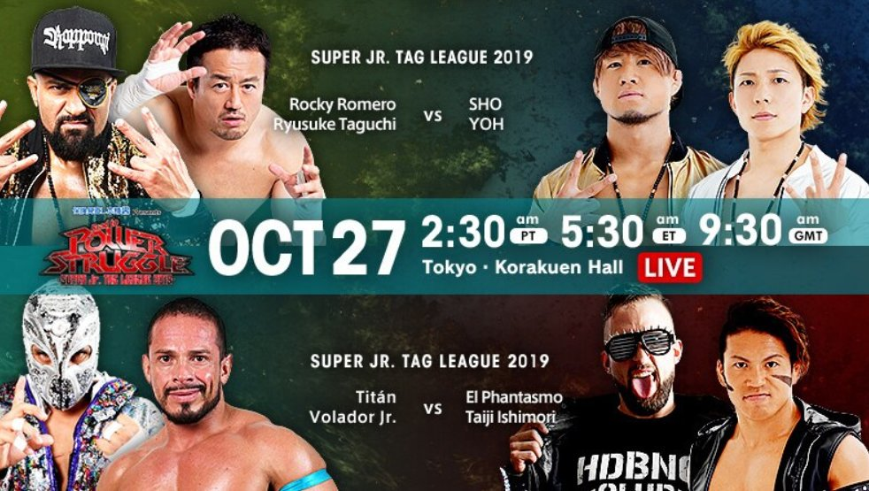 NJPW Road To Power Struggle Results (10/27): Rocky Romero And Ryusuke Taguchi VS. SHO And YOH