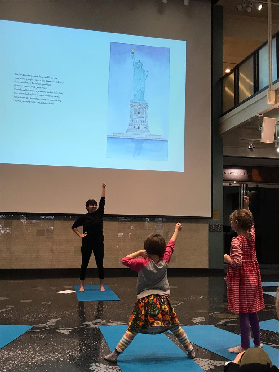 Soapbox yoga in action @AJHSNYC and @PJLibrary