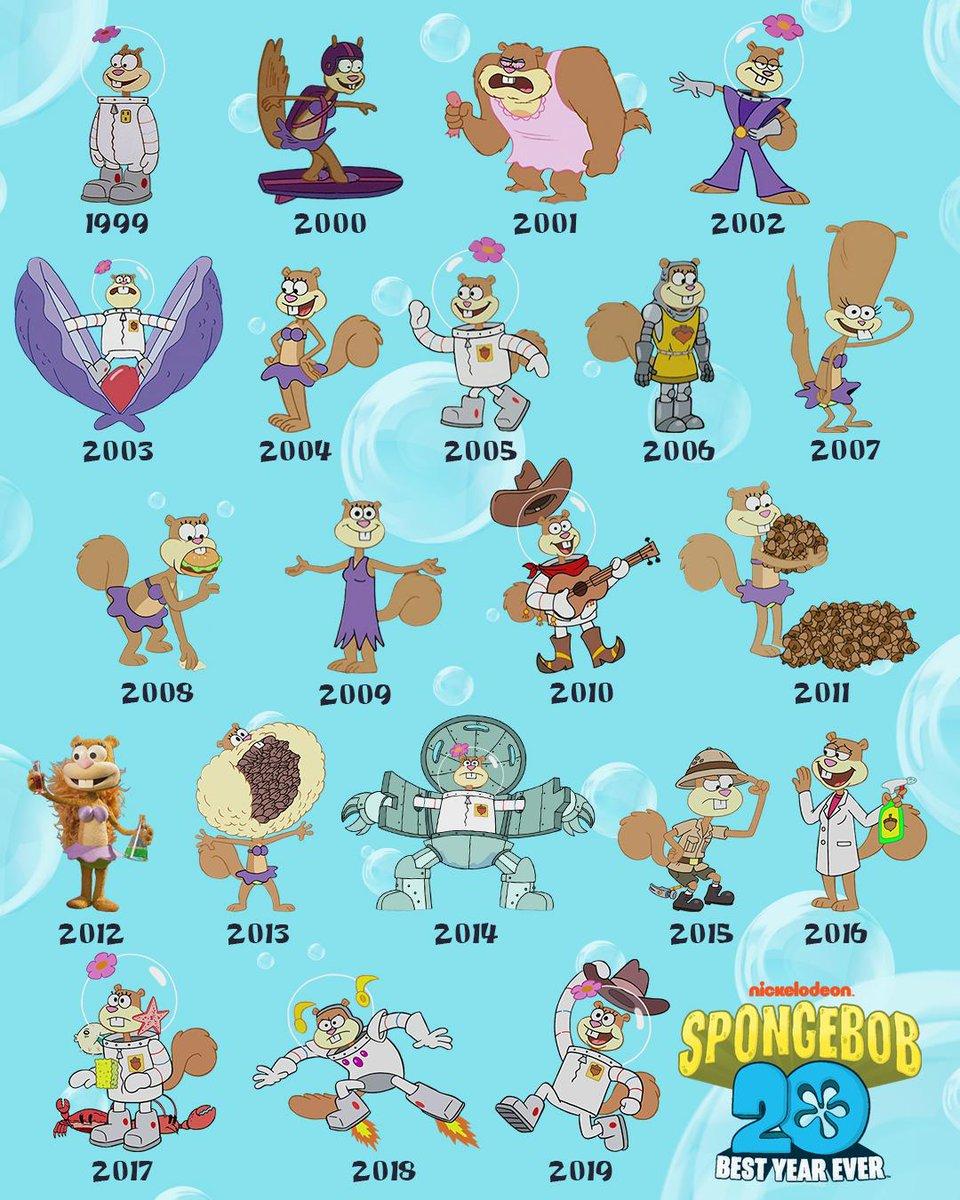 And sandy spongebob I love
