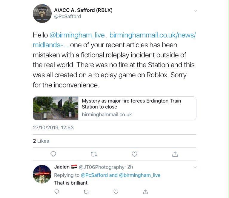 Medie Tweets Av Btp Lancashire At Btplancs Twitter - south side roleplay roblox