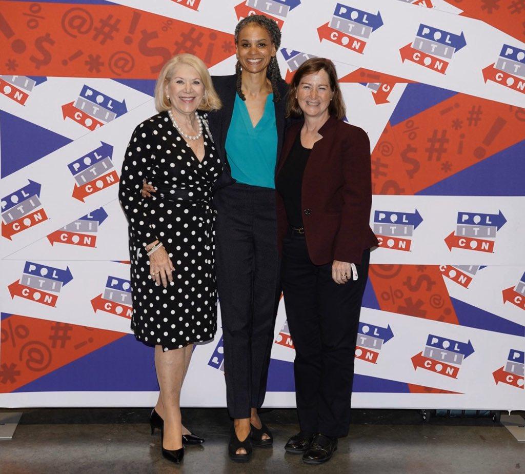 Sisters in law at Politicon @mayawiley @BarbMcQuade @JillWineBanks #Politicon2019