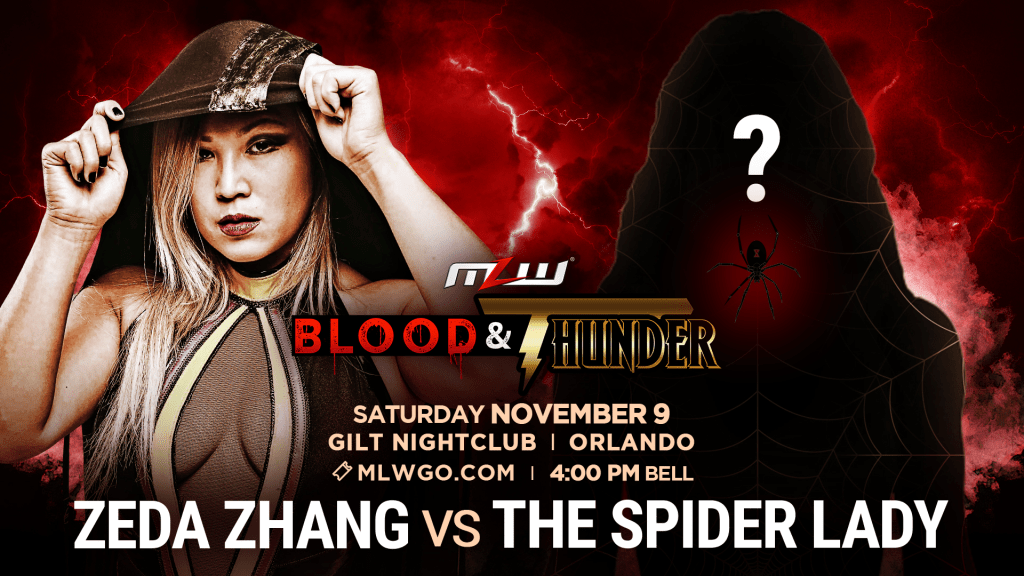 MLW Announces Zeda Zhang Vs. The Spider Lady For MLW: Blood & Thunder