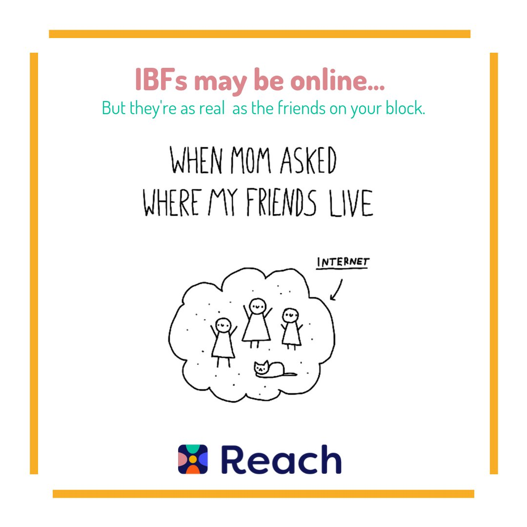 No matter what anyone else says we know how special IBFs really are! Tag your IBF and show them some love #Reach #IBF #ReachYourIBFs #IBFgoals #InternetBestFriendspic.twitter.com/FHaG5ZegVi