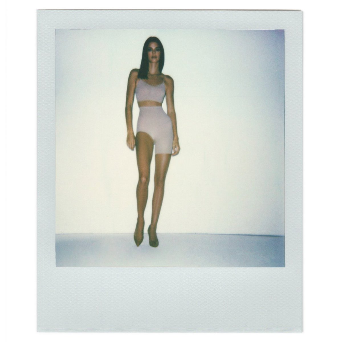 Kendall Jenner (@KendallJenner ) wears the Solution Short no. 2 ($42) in Clay. Available now in select sizes and colors at  http://SKIMS.COM  . Photo: #VanessaBeecroft