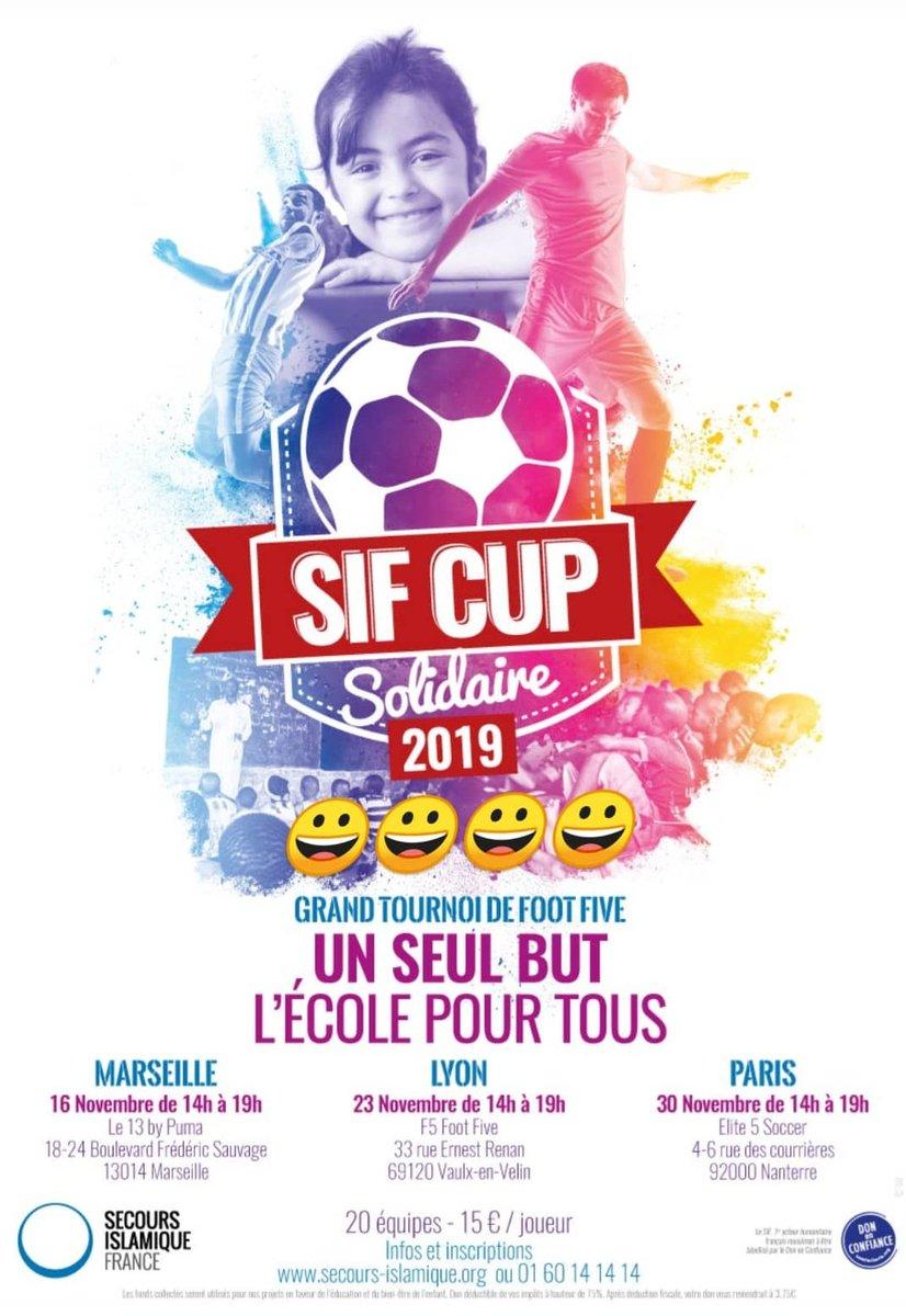 ➡️#SIFCUPMARSEILLE ⚪🔵 ou ➡️#SIFCUPPARIS 🔵🔴  🤔  À vous de choisir où vous souhaitez participer à la #SIFCUP ⚽ c'est pour la bonne cause 🙂  Rendez-vous à Marseille, à Paris, mais également à Lyon 👍😀 Pour vous inscrire ⤵️ https://t.co/QKAxZcefzb  #PSGOM https://t.co/NUhJZmvxlH