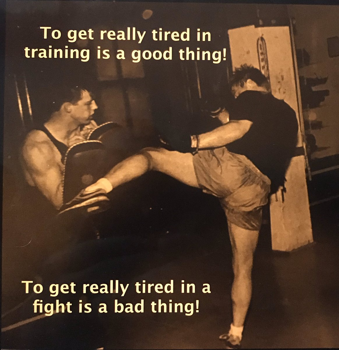 Training is the heart of the combat athletes experience.  It doesn't matter if you do BJJ, Boxing, Muay Thai, Grappling, MMA, Wrestling... your goal is to get really tired in training so you don't get really tired when it counts! #KeepPounding #Training #push #fight #workhard https://t.co/xDaMycddKg