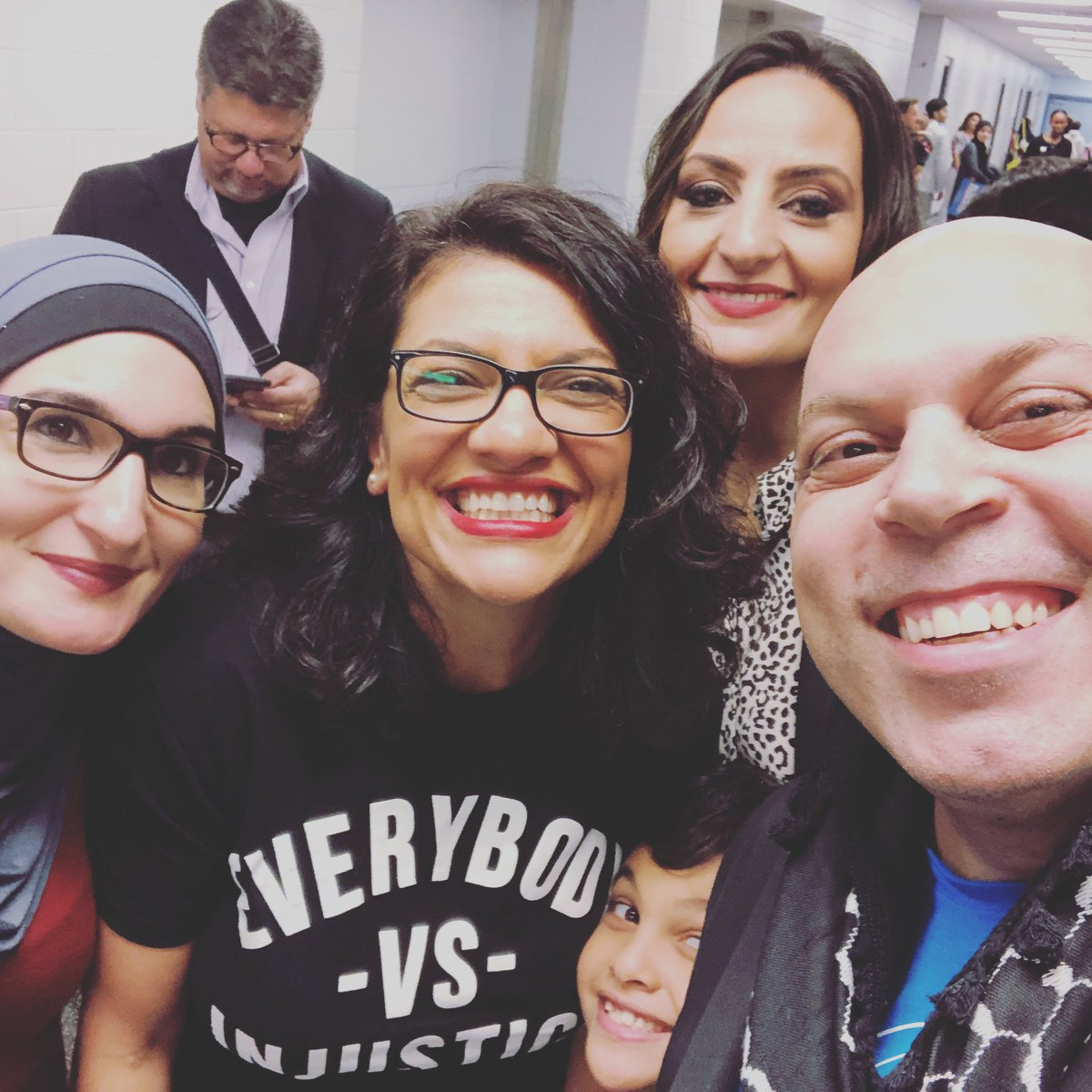 Image result for amer zahr with bernie sanders