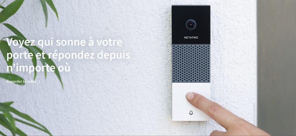 portier vidéo connecté sonnette netatmo arlo