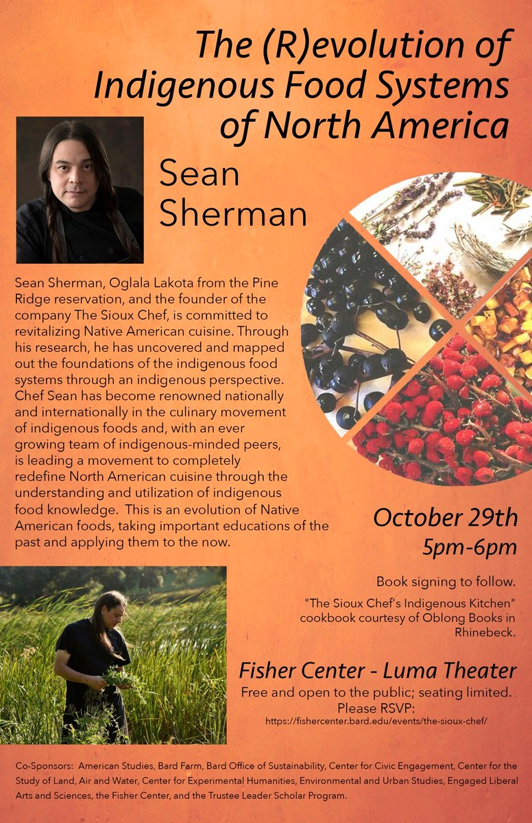 Upstate New York! We are coming to see you this Tuesday! Pls share with your community there. Chef @Chef_Sean will speak @BardCollege Its free! to reserve tickets or learn more, call the Fisher Center box office at (845) 758-7900 or visit fishercenter.bard.edu