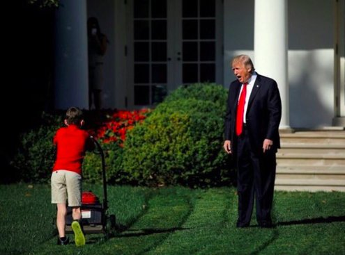 SORRY BARRON, NO ROOM ON THE WORLD SERIES TRUMP TRAIN TONIGHT, IM TAKING LINDSAY GRAHAM AND MATT GAETZ INSTEAD. YOU ARE BARRON RIGHT?