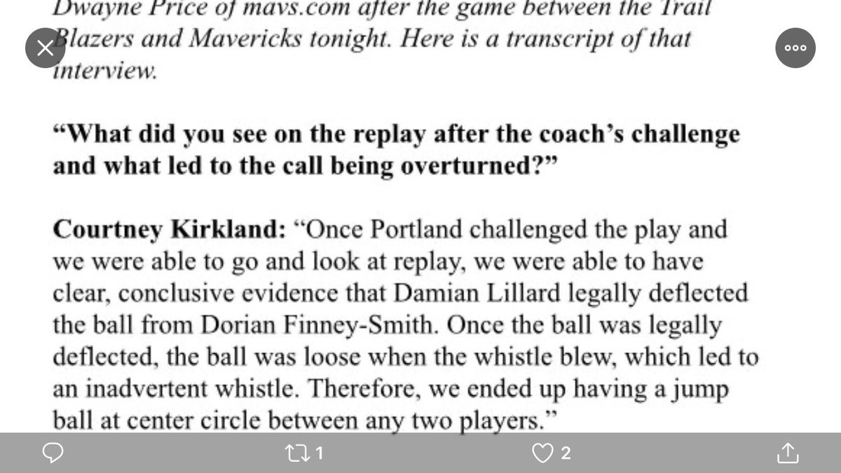 official explanation of what happened on the challenge and overturned call