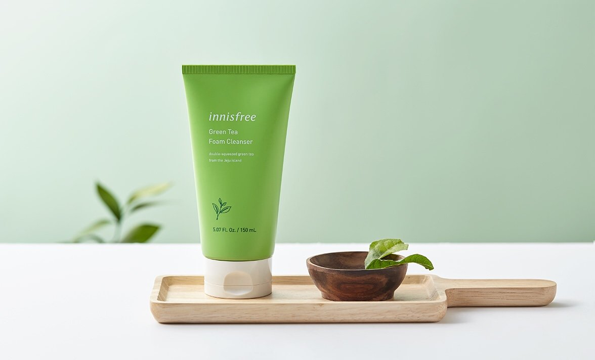 Kết quả hình ảnh cho innisfree green tea foam cleanser 150ml