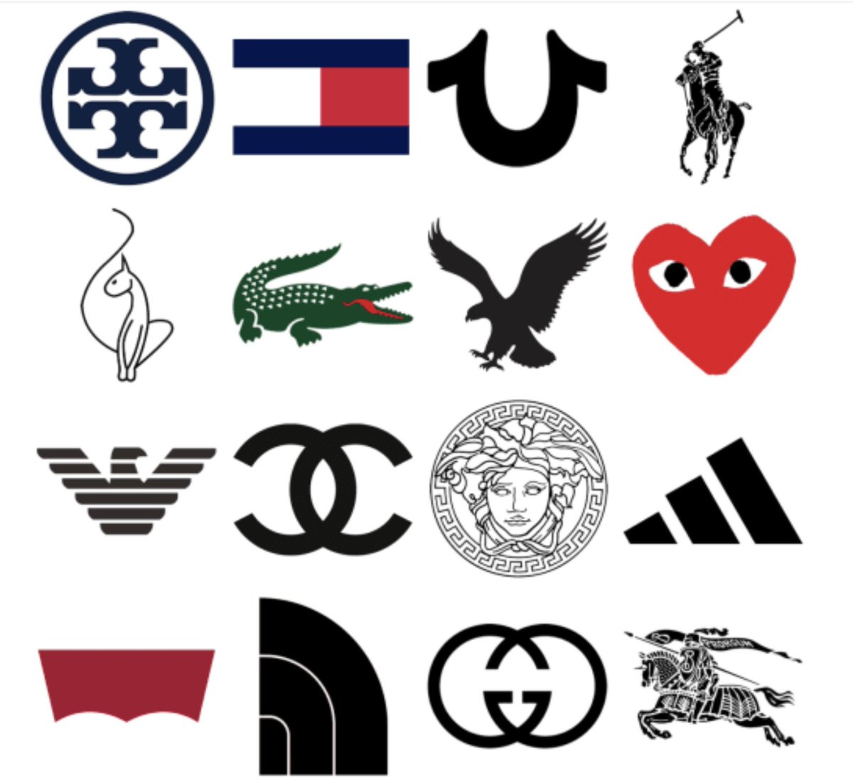 Logo Quiz, How well do you know your fashion logo's?#logodesign #logo #graphicdesign #quiz #fashion https://t.co/85wbMcvdz4