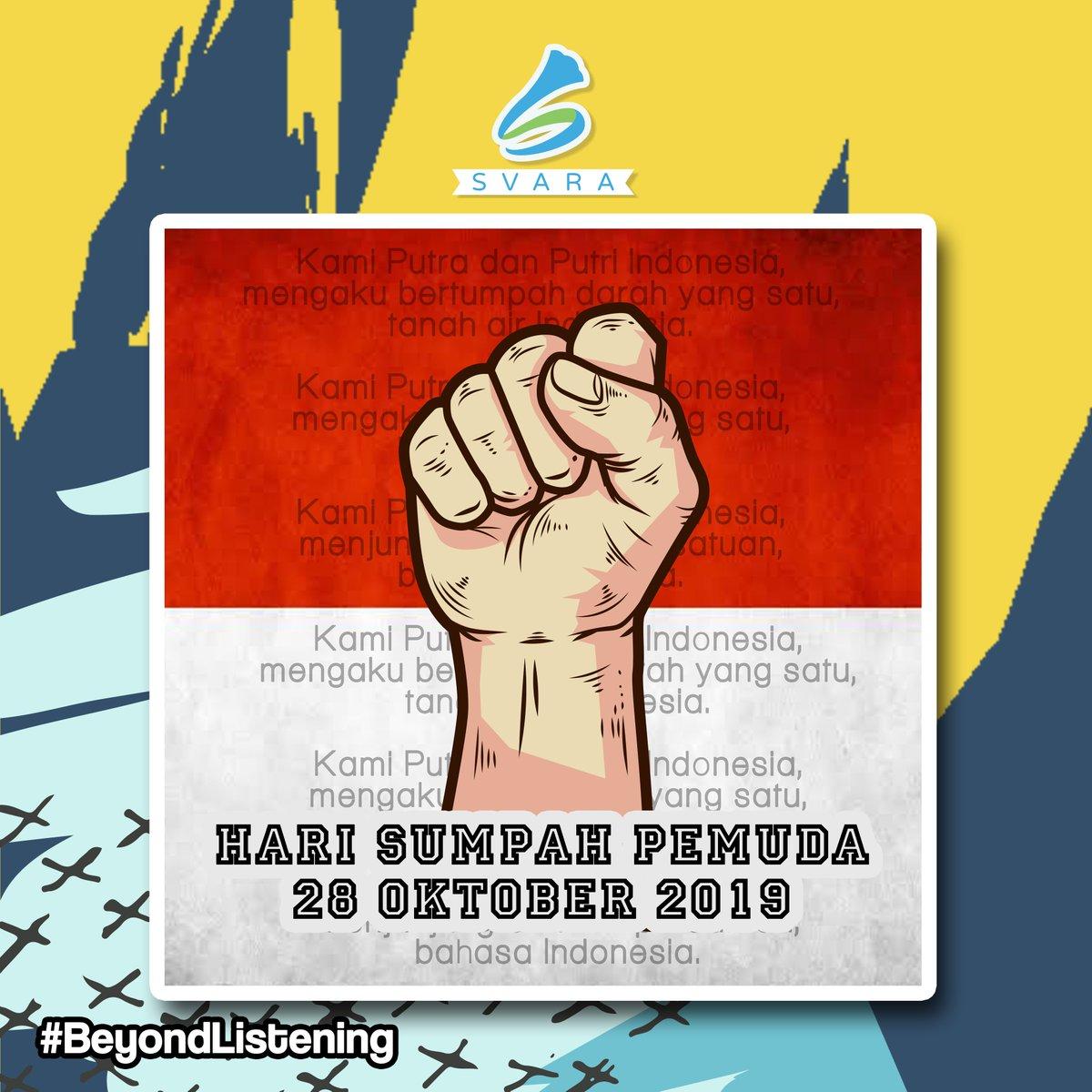 Wahai pemuda bersatulah untuk Tanah Air dan Bangsa ini dan tetap menjunjung tinggi bahasa persatuan Indonesia. Selamat Hari Sumpah Pemuda.  . . . #beyondlistening pic.twitter.com/Vr4vQvyj57