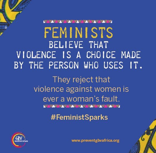 Violence Against Women happens not because women are troublesome or disrespectful, but because abusers and perpetrators choose to use violence as a way to establish power and authority. #VAW is never the victim/survivors fault. #StopViolenceAgainstWomen #PreventGBV #EndVAW