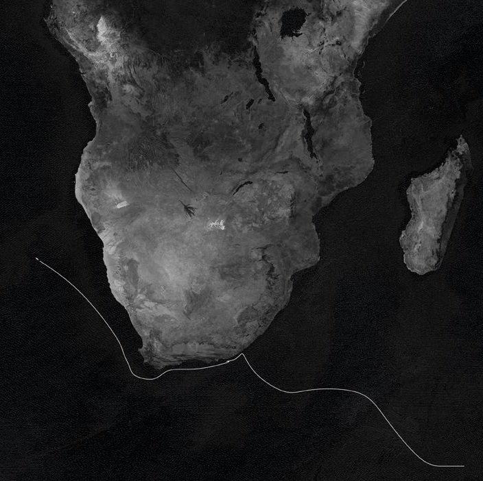 """#VCentenario 🌍 Tras 90 días navegando por el Índico Sur, la nao Victoria llega al cabo Buena Esperanza. Durante 14 días ininterrumpidos de temporal, el llamado """"cabo de las Tormentas"""" pondrá a prueba, una vez más, la resistencia de la Armada. #ElViajeMásLargo #IVueltaAlMundo"""