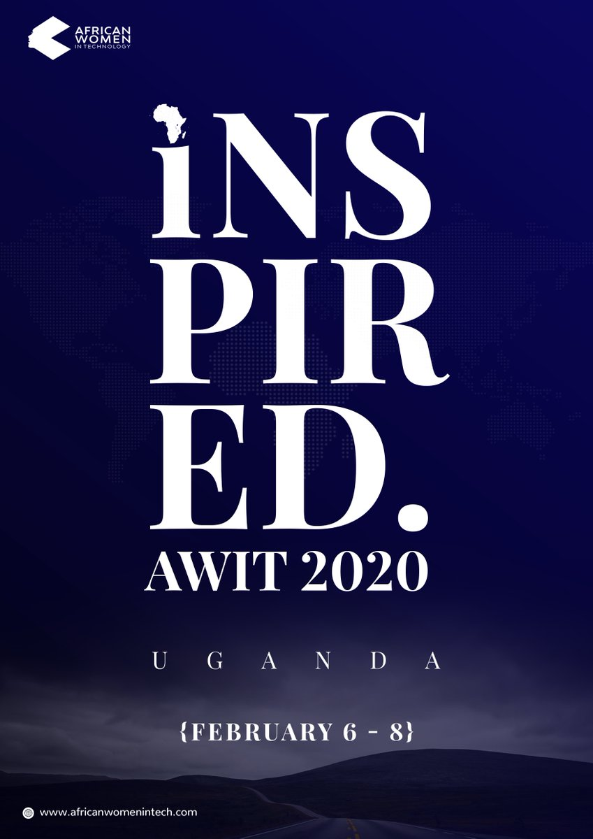Uganda! We'll be hosting two days of amazing conferences, workshops and a pitch competition from February 6-8th in association with @AfricanWIT. If you're a woman or man in technology, you don't want to miss this! Grab your tickets via https://www.eventbrite.com/e/african-women-in-tech-uganda-awituganda20-tickets-76781793411…. #AWITUGANDA20 pic.twitter.com/Ua4OJDA0u1