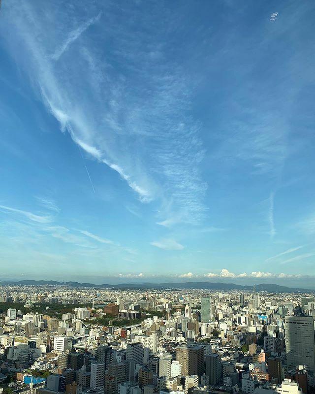 3ヶ月ぶりの景色撮ったけどアップする暇なくて今頃だけど… .  #さっきの空 #サッキソラ #サッキノソラ #ノンフィルター #ノーフィルター #青空 #あおぞら #bluesky #空 #そら #sky #雲 #くも #cloud #clouds