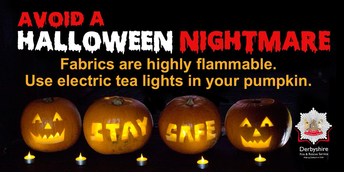 With Halloween drawing even closer, let's celebrate safely @DerbyshireFRS