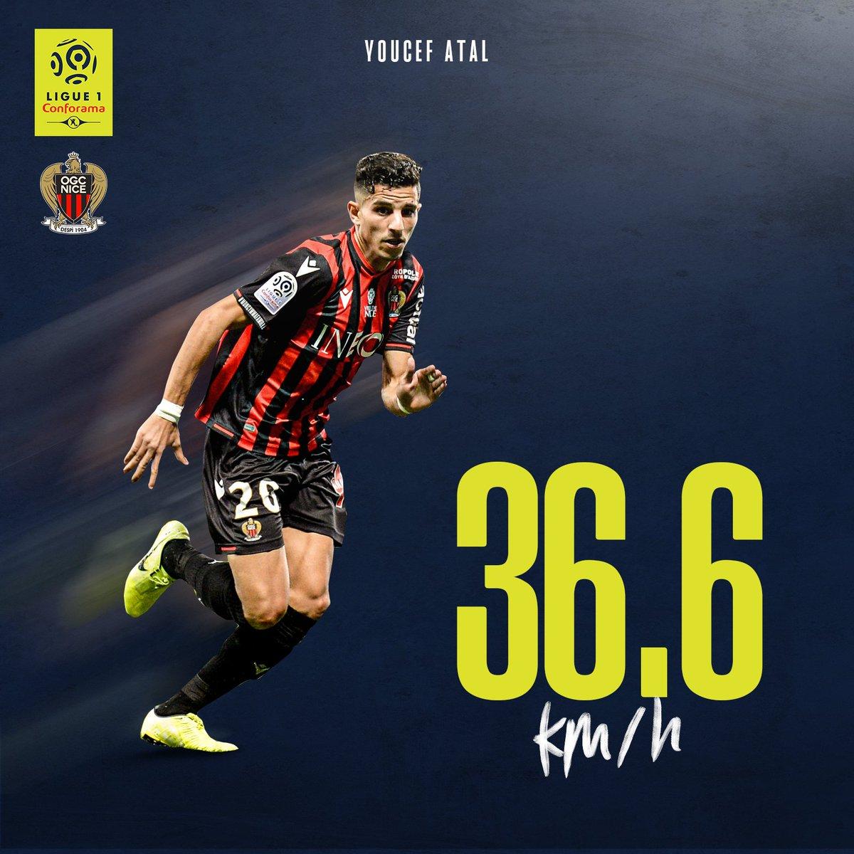 Ligue 1: Nizza-Angreifer Youcef Atal ist schnellster Spieler der Saison