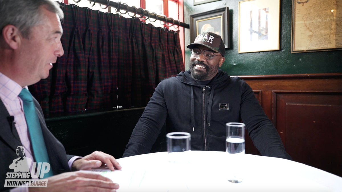 Ahead of his big fight at the @TheO2 on Oct 26th, I sat down with heavyweight boxer @DerekWarChisora. Watch the FULL interview on my YouTube channel at 4pm tomorrow. Subscribe now to get a reminder: bit.ly/nigelfarageoff…
