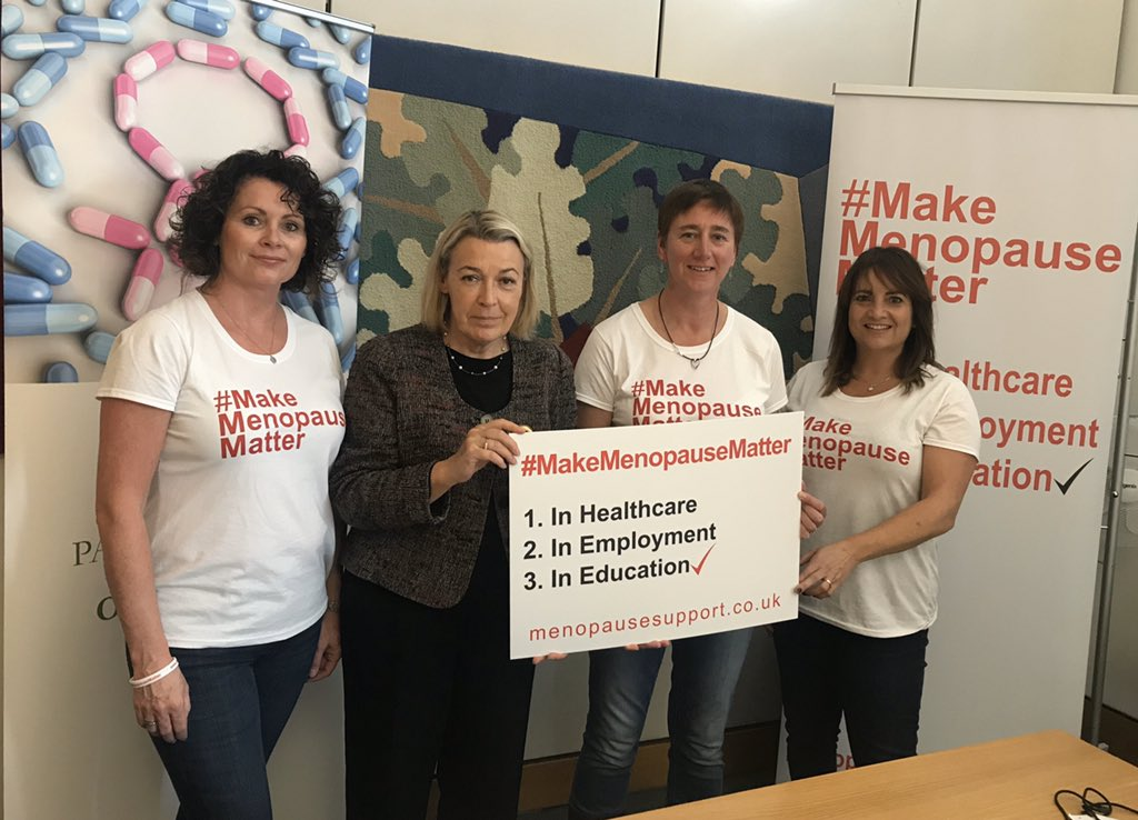 Great to talk to members of the #MakeMenopauseMatter campaign abut the need for menopause education for all GPs #appg_mh