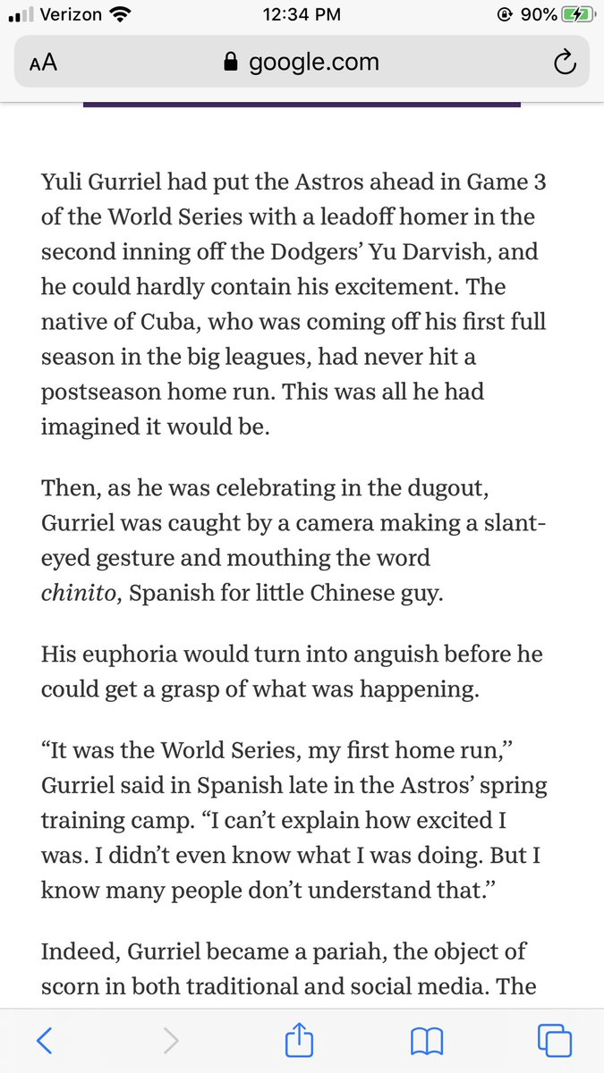 Calling our players city rats when Astros fans seem to forget when Gurriel made racist facial expressions to Darvish.