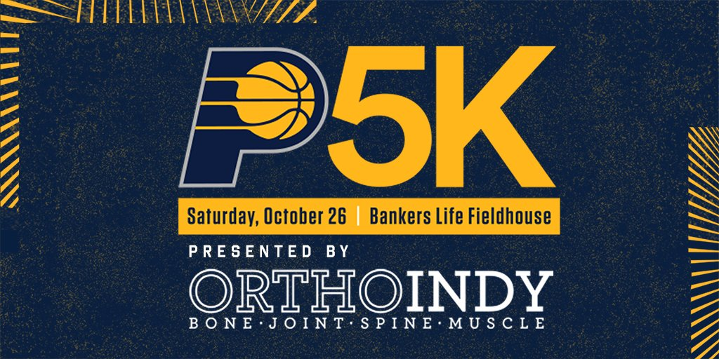 Sign up for the #Pacers5K TODAY before prices rise on October 19!  Run to http://Pacers.com/5K  to register 🏃  By participating in the race, you'll receive:  • A #Pacers5K shirt and medal • Balcony Ticket to our game on Nov. 1 • Access to pre- and post-race festivities
