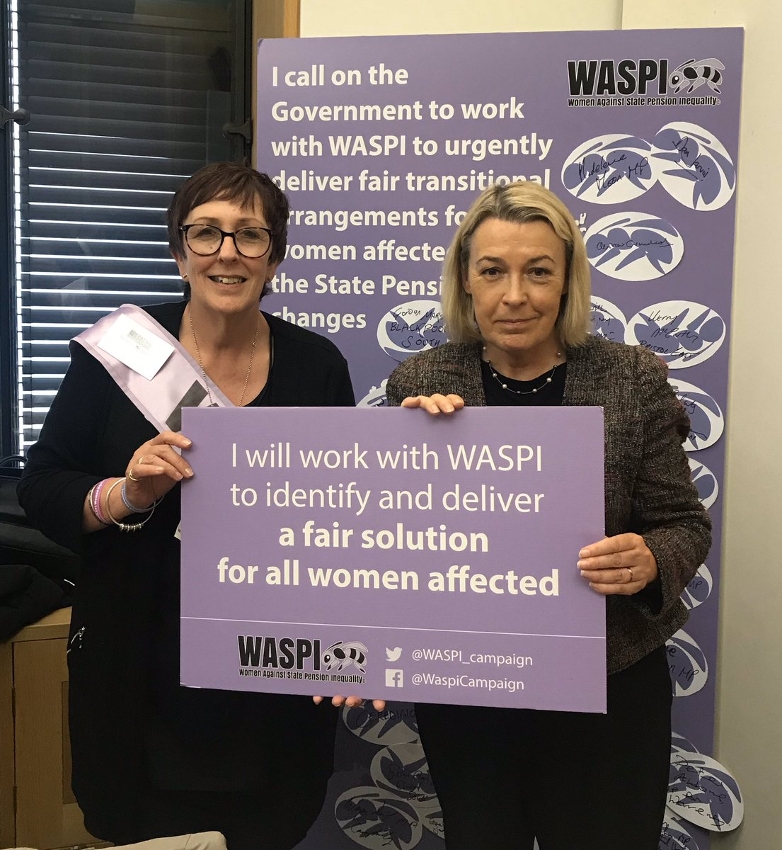 Pleased to support the #WASPI campaign in Parliament today. We need pensions justice for 1950s-born women. And great to see @FlickForeman at the event