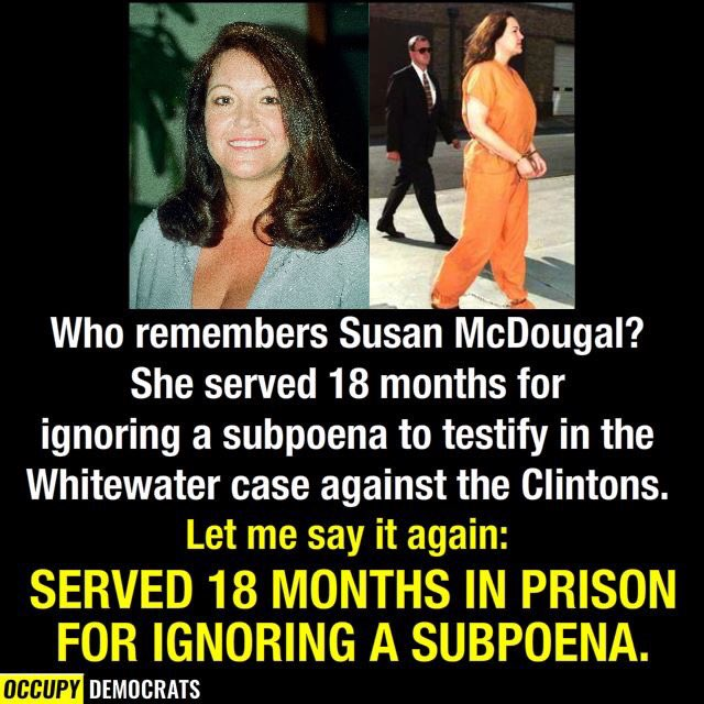 RT @ReneeHoagenson: Anyone ignoring a subpoena should serve jail time. Period. https://t.co/0ryBe9Jb3E